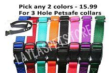 "2 PetSafe Deluxe Bark Collar Compatible Strap PBC-302 PDBC300 Orange 3 Hole 3/4"""