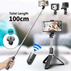 Extendable Wireless Selfie Stick Integrated Tripod 1M + Bluetooth Remote Shutter