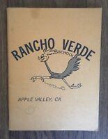 1985/1986 RANCHO VERDE/ APPLE VALLEY ELEMENTARY SCHOOL YEARBOOK CALIFORNIA CA