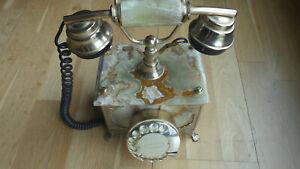 Altes Onyx Marmor Wählscheibentelefon, dänisch Super original Zustand