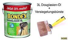 BONDEX Douglasien-Öl 1 x 3 Liter 7123 by Dyrup Holzschutz + Versiegelungsbürste