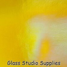 Bullseye Thin Marigold Yellow Irid Transparent Kiln Fusing Glass 90coe 1320-51