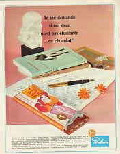 Publicité Advertising 1967  Poulain Chocolat au lait et aux céréales