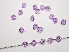 Swarovski® Perlen, 4mm Bicone, Violett, 50 Stück #SW24