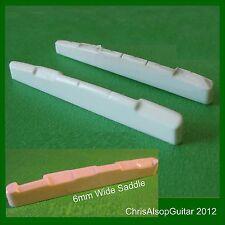 Silla de montar de la guitarra de hueso de gran tamaño. hasta 6 mm de ancho o más 85 PS030 mm de largo.