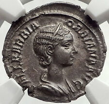 ORBIANA Severus Alexander Wife 225AD Rome Ancient Silver Roman Coin NGC i68745