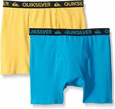 Quiksilver Boys Turquoise & Yellow 2pk Solid Boxer Briefs Size 4/5 6/7 $18