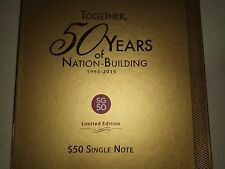 Singapore SG50 limited edition commemorative $50 with folder