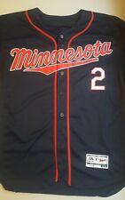 BRIAN DOZIER Minnesota Twins Men's Size 44 Majestic MLB Jersey