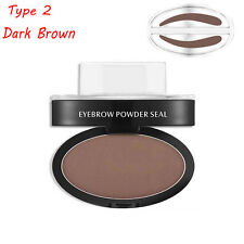 Eyebrow Shadow Definition Makeup Brow Stamp Powder Palette Delicated Natural Hot Type 2 Dark Brown