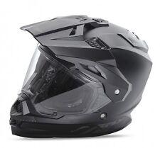 FLY STREET TREKKER MOTORCYCLE HELMET MATTE BLACK LARGE LG 73-7011L