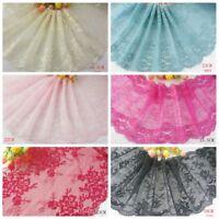 Delicate Black/Pink/Red 1 yard Elastic/Spandex Soft Flower Floral lace trim 09