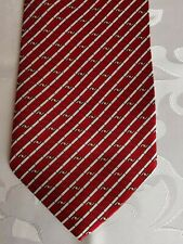 """Cravate """"NEUVE"""" 100 % SOIE fabriquée en THAILLAND - rayures rouge/jaune/blanc"""