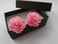 Stylish Baby Pink Rose Flower Mens Cufflinks Boxed - Handmade Mens Gift