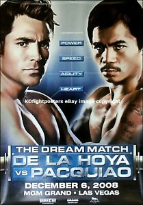 OSCAR DELAHOYA vs MANNY PACQUIAO 8X10 PHOTO BOXING POSTER PICTURE