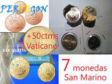 SAN MARINO SERIE 7 VALORES + 50 centimos Vaticano- SIN CIRCULAR años variados