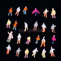 100 Painted Model People Figures Train Railway Diorama Wargames Scenery Z