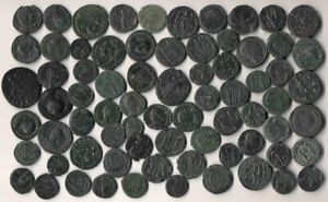 73 ANCIENT ROMAN COPPER COINS (NICE LOT > SEE THE PICTURES !!!) NO RESERVE