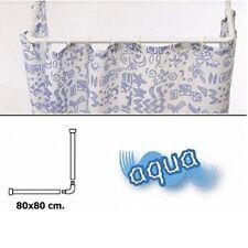 Barra para cortina ducha Universal aluminio blanco 80 X 170 cm. Maurer