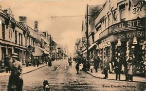 SUPERB REAL PHOTO RP POSTCARD BOOTS SHOP TRAM CENTRE SWINDON WILTSHIRE 1900'S?