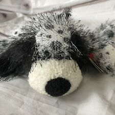 Ty Punkies Polka Dot Black White Dog Bean Bag Plush English Setter Dalmatian