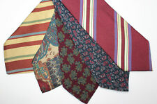 LOT OF 5 GUCCI silk ties MADE IN ITALY. E93593