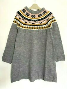 GIRLS KIDS LOVELY AUTUMN WINTER KNITTED JUMPER DRESS AGE 13 - 14 Y YRS YEARS NEW