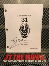 ROB ZOMBIE ~ LTD EDITION ~ Signed ~ 31 ~ Movie Shooting Script ~ #74 of 100 MADE