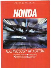 Honda Motor Magazine Supplement 1986-87 UK Market Brochure Civic Accord Legend