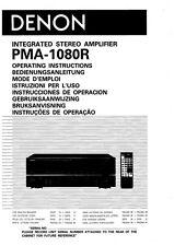 Denon PMA-1080R Amplifier Owners Manual