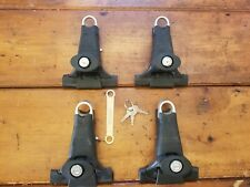 Yakima 1A Rain Gutter Towers - Used Set of 4 with locks and keys