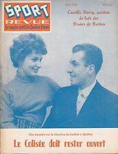 ORIGINAL JUNE 1958 SPORT REVUE MAGAZINE QUEBEC ACES JEAN BELIVEAU   NHL HOCKEY