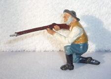 Wildwest - Figur aus Masse : Cowboy kniend schießend von LINEOL