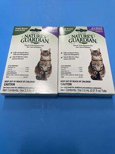 (2) Pack Sergeant's Natures Guardian Flea & Tick Treatment Cats Kitten 💥💥💥
