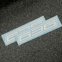 Kawasaki 636 white decals stickers set of two ninja FAST TO SHIP zx6 r