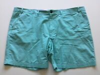 Tommy Hilfiger Mens 52 Classic Fit Flat Front Cotton Khaki Chino Shorts Green