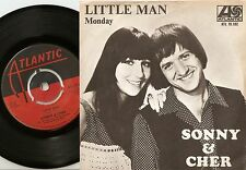 SONNY AND CHER LITTLE MAN & MONDAY SWEDISH 45+PS 1966 BEAT SOUL MOD PSYCH