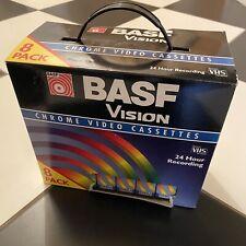 BASF Vision Chrome Video Cassettes VHS 8 Pack Bundle Brand New Sealed