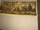 """VINTAGE French Hand Loomed Country Lifestyle Tapestry WALLHANGING  62"""" X 26"""""""
