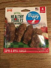 Nylabone Natural Healthy Edibles Puppy Chew Treats - Lamb & Apple Flavor 4 Pa...