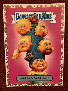 "Garbage Pail Kids Melded Maggie ""fools gold"" 24/50 Parody Trashy TV the simpsons"