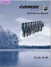 2010 Evinrude E-tec 15 25 30 HP Outboard Motor Service Repair Manual CD
