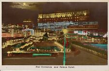 SOUTHEND-ON-SEA (Essex ) :  ILLUMINATIONS - Pier Entrance and Palace Hotel RP