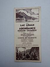 CARTE DE TOURISTE DU LAC LEMAN A ABONDANCE MORZINE CHAMPERY