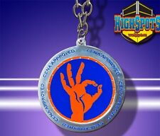 WWE John Cena Approved Spinner Pendant Necklace, Wrestling Orange/Blue Chain