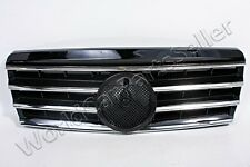 Front Grill Center Grille CL Type Chrome Black Fits MERCEDES C-Class W202 94-00