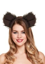 HALLOWEEN SOFT FURRY BEAR EARS  HEADBAND ANIMAL ZOO FANCY DRESS