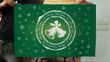 Pancartas y guirnaldas de fiesta verdes de navidad, navidad