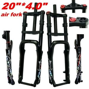 """20inch 4.0"""" Snow MTB Moutain Double Shoulder Bike Air Fork 135mm Magnesium Alloy"""