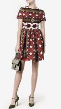 Valentino Floral Print Bambolina Dress Size:48/12 $5990 NWT